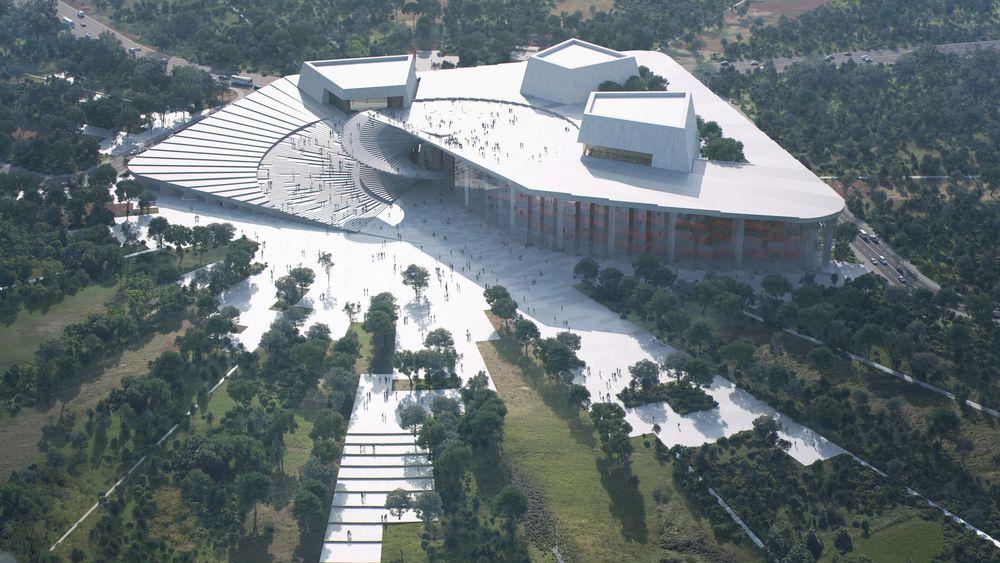 Etter planen skal operahuset i Shanghai stå ferdig i 2023