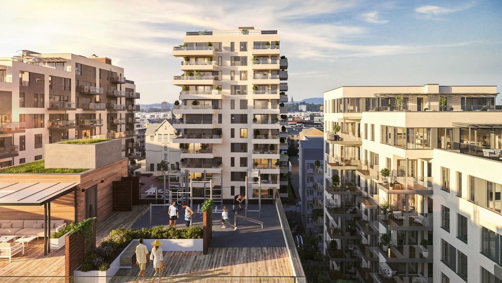 Middelthunet på Majorstuen er boligprosjektet som har bidratt mest til Veidekkes nyboligsalg i første kvartal.