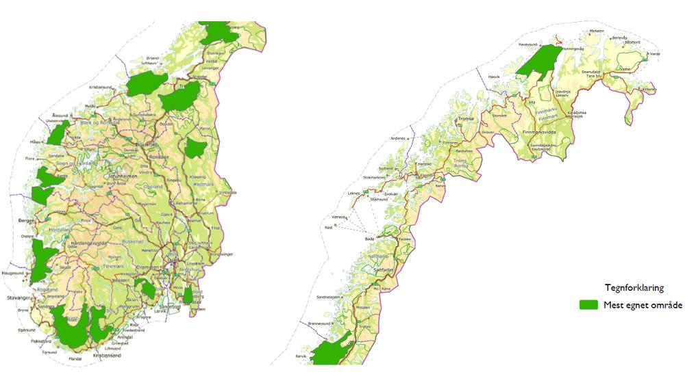 Karta Arendal Norge.Bare 4 Av 24 Konsesjonssoknader Er Innenfor Nves Vindomrader Tu No