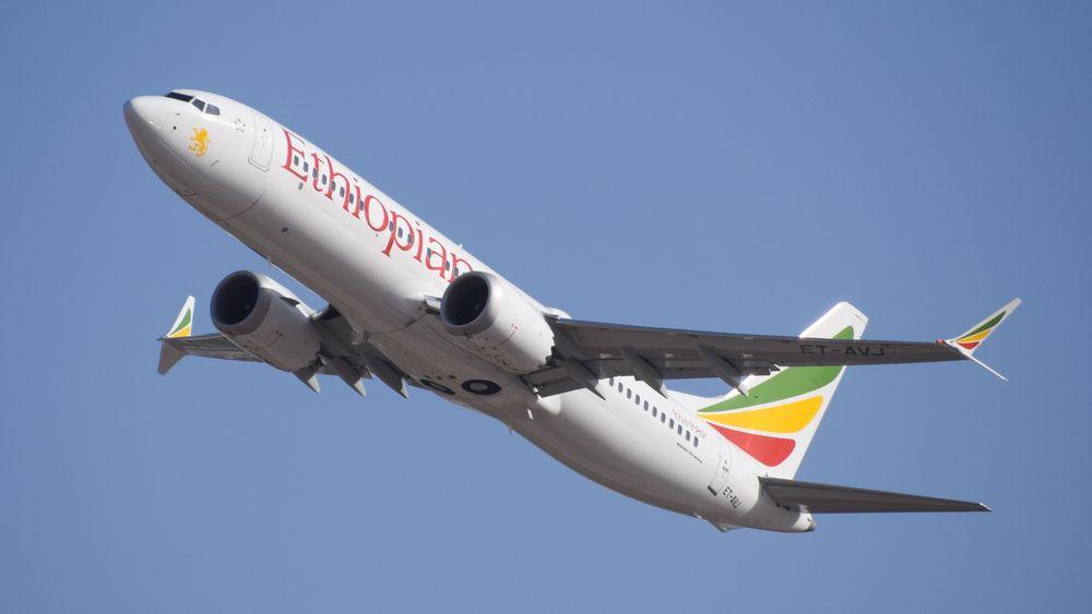 Ulykkesflyet ET-AVJ tar av fra Ben Gurion lufthavn i Tel Aviv i Israel i februar.