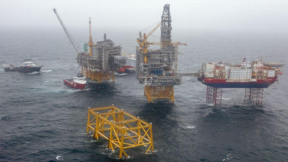 Bygging av skip og oljeplattformer har økt kraftig. Bildet er fra utbyggingen av Johan Sverdrup-feltet.