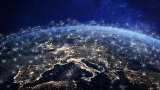 Satellittbilde av Europa.