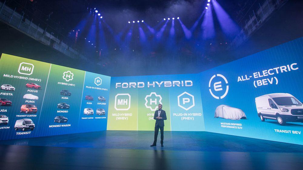 Fords elektrifiseringsstrategi handler om alt fra et minimum av hybridisering til rene elbiler.
