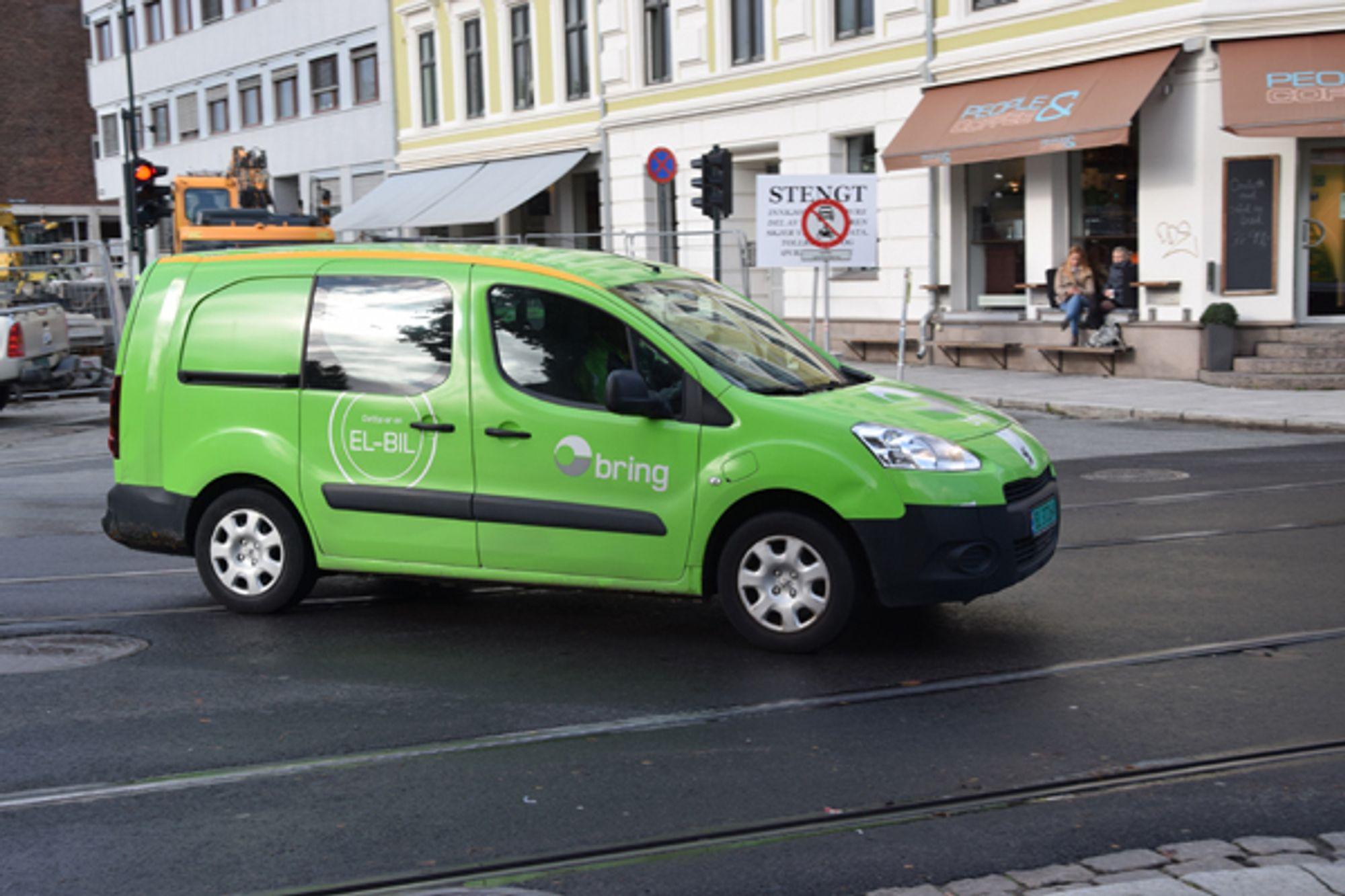 Bring er blant dem som satser på elektriske varebiler. Målet er å bruke fornybar energi i alle kjøretøy innen 2025.