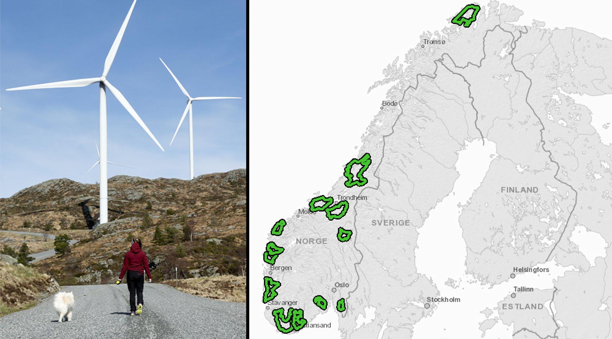 NVE legger en rekke hensyn til grunn når de avgjør hvilke vindparker som får konsesjon i framtiden.