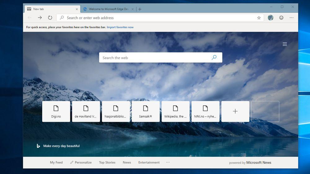 37bf6d39e Microsoft Edge basert på Chromium er klar for testing - Digi.no