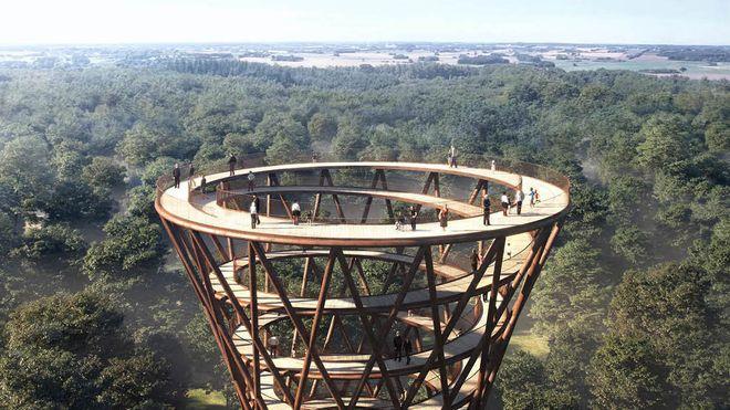 Dansk spiraltårn vil gjøre ingeniørkunst til turistattraksjon