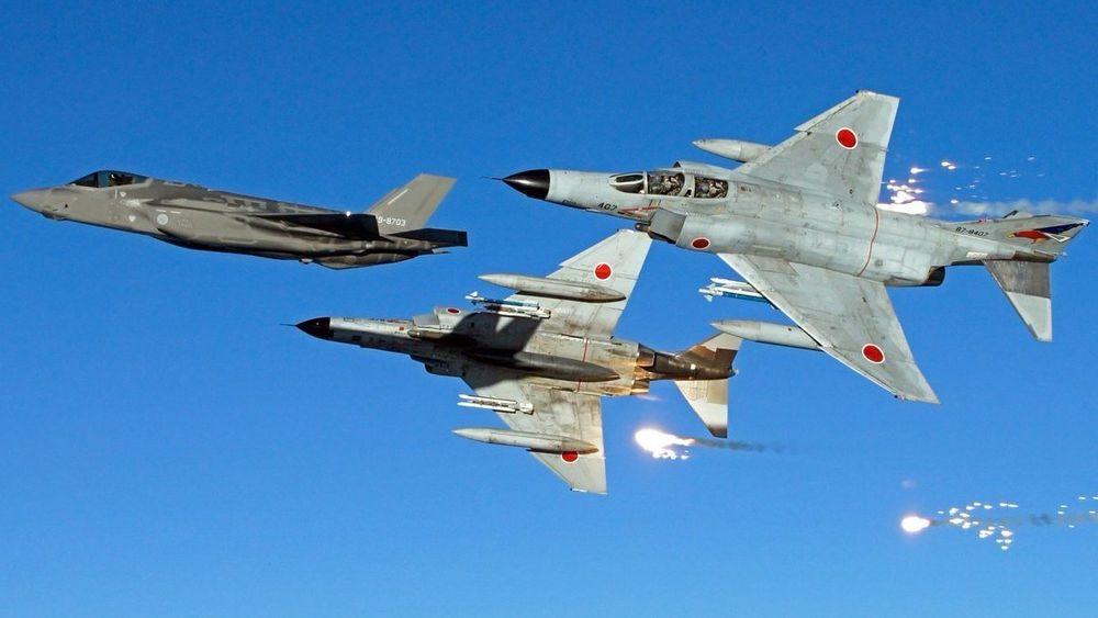 Dette er fra en oppvisning i mars i forbindelse med at F-35A begynner å overta for F-4EJ Kai.