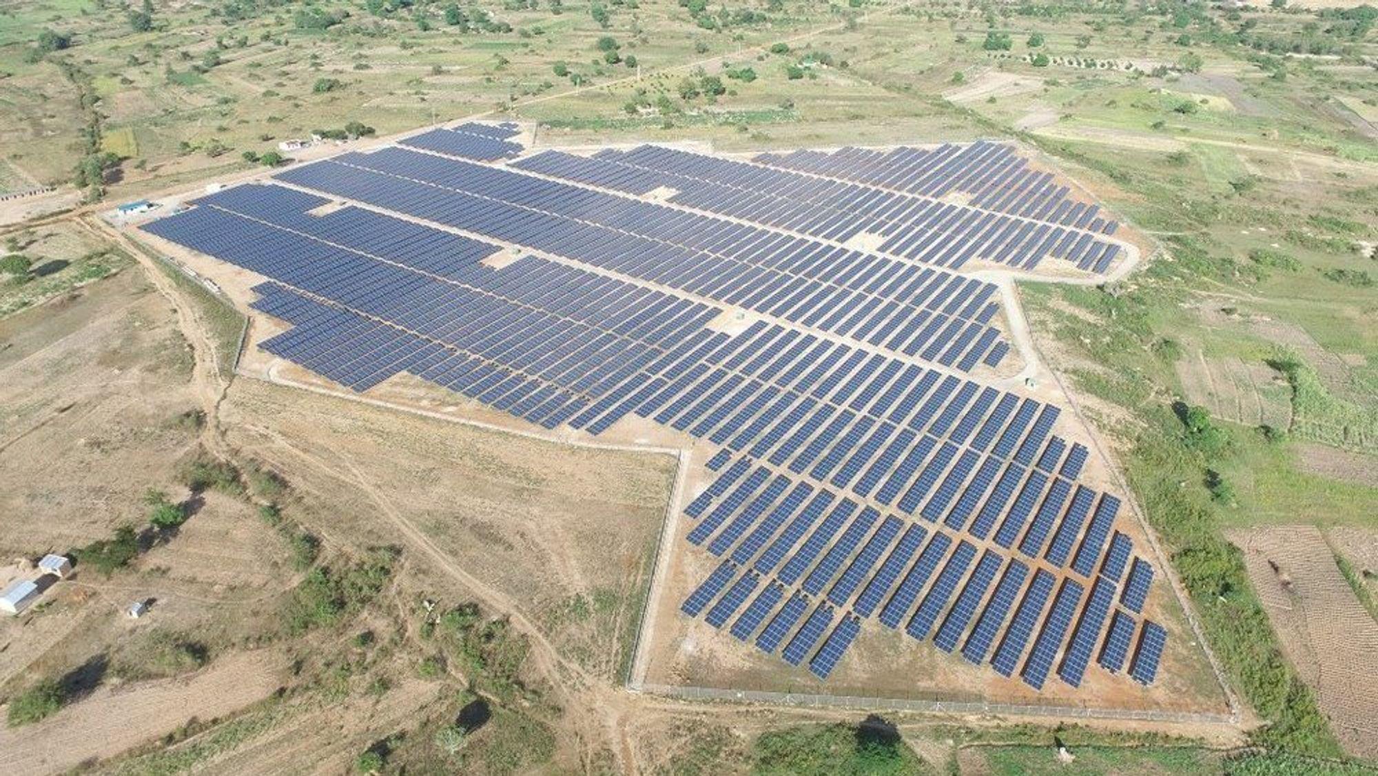 Bildet viser Soroti Solar Power Station - et 10 megawatts prosjekt utviklet under GET FiT Uganda.