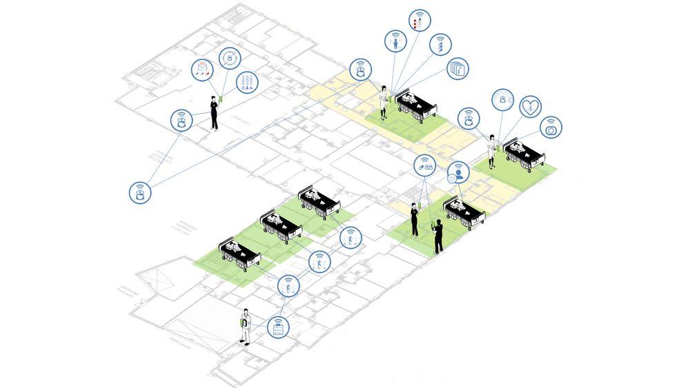 Hospital ITs sensorbaserte system skal gi brukerne av sykehus og andre helsebygg en smartere hverdag.