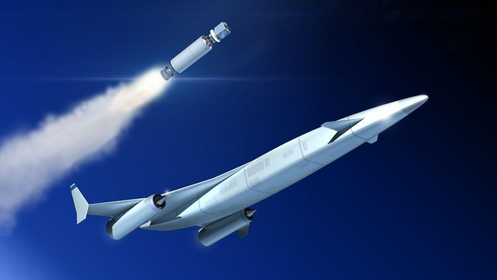 Skylon-romflyet skal ved hjelp av Sabre-motoren kunne komme opp i 5,4 ganger lydens hastighet i atmosfæren.