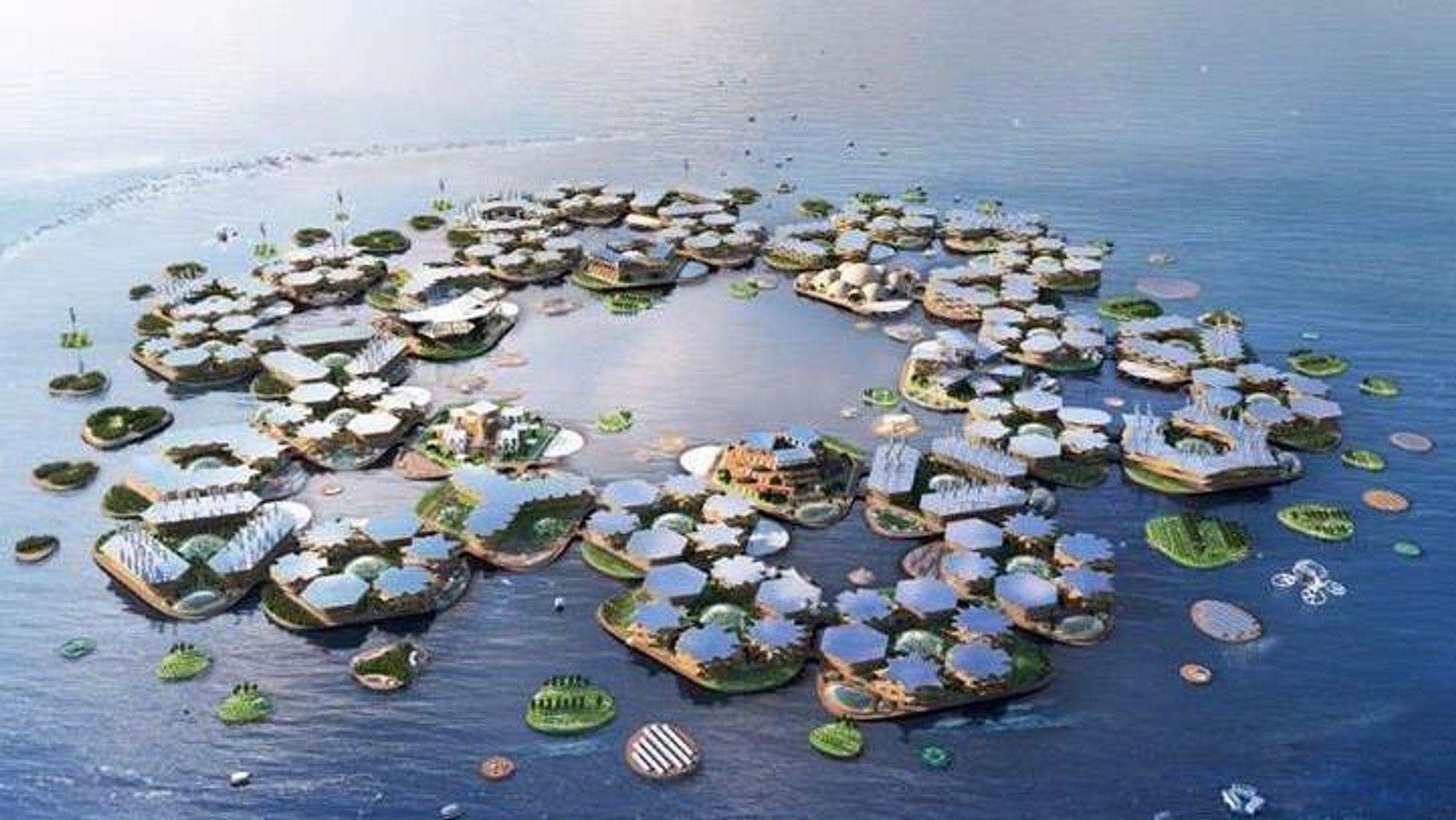 Grunnleggeren av Oceanix tror flytende byer er et av svarene på fremtidens klimautfordringer.