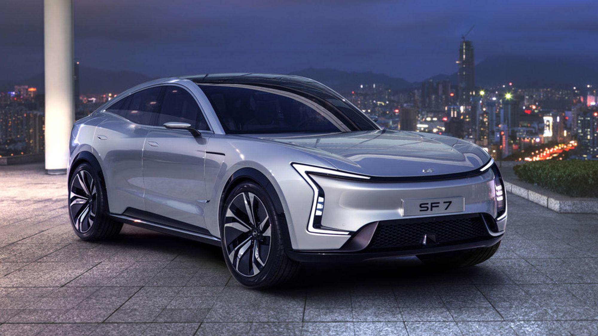 SF Motors har to modeller klare: Kompakt-SUVen SF5 og den større, mer luksuriøse SF7.