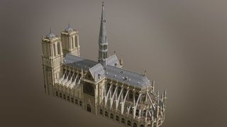 Utforsk 3D-modell av Notre-Dame: To tredeler av taket til den ikoniske katedralen brant