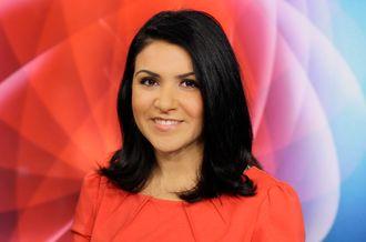 Programleder Rima Iraki i NRK Dagsrevyen.