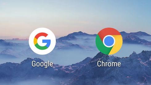 App-ikonene til Google Search og Chrome i Android.