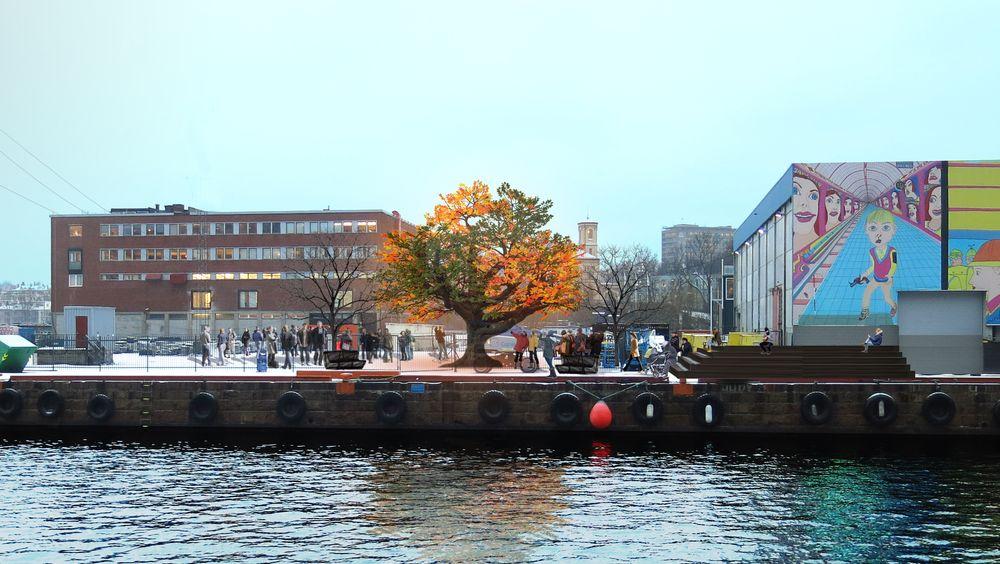 Det 14 meter høye kunstverket «Tree of Ténéré» av kunstneren Alexander Green ble kjøpt inn av Stein Erik Hagen i 2017. Det blir nå satt opp på Filipstad for en femårsperiode.