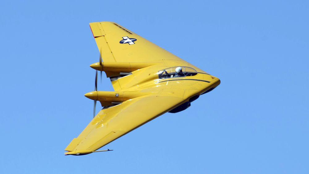 Planes of Fames Northrop N-9MB på en tidligere flygning.