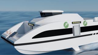 Hurtigbåt med vinger kan halvere energibehovet. Nå skal den testes