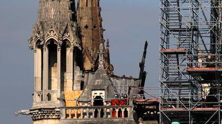 Byggearbeidere brøt røykeforbud i Notre-Dame