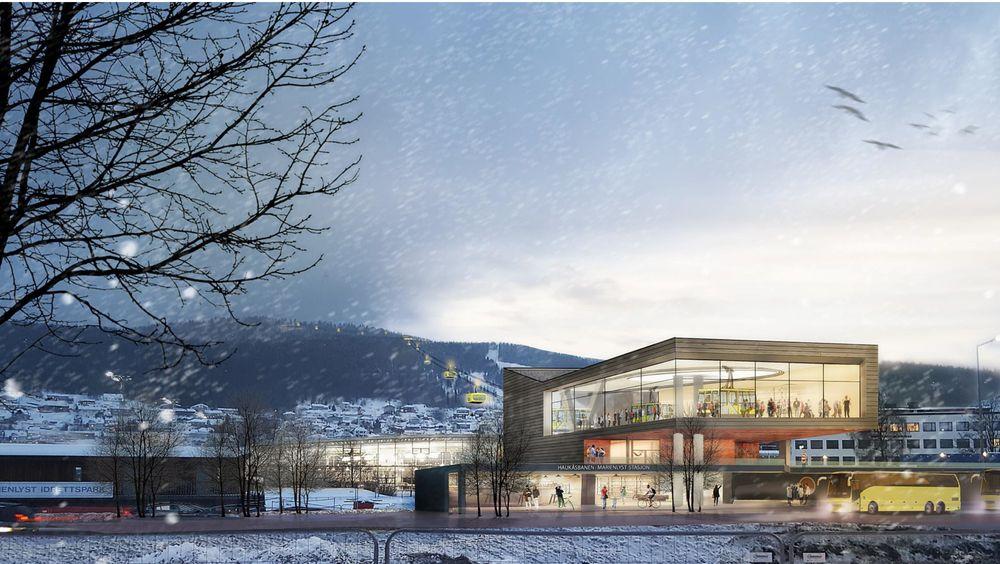 I Drammen skal det bygges en gondolbane som går fra Drammen sentrum til Konnerud senter.