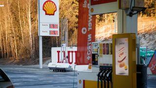 En Shell-stasjon utenfor Oslo.