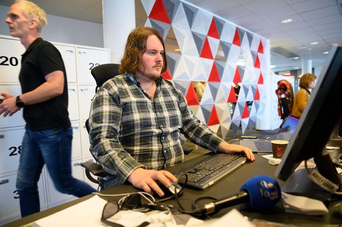 Torgrim Gotland Bakke, podkastansvarlig og journalist i Fredriksstad Blad.