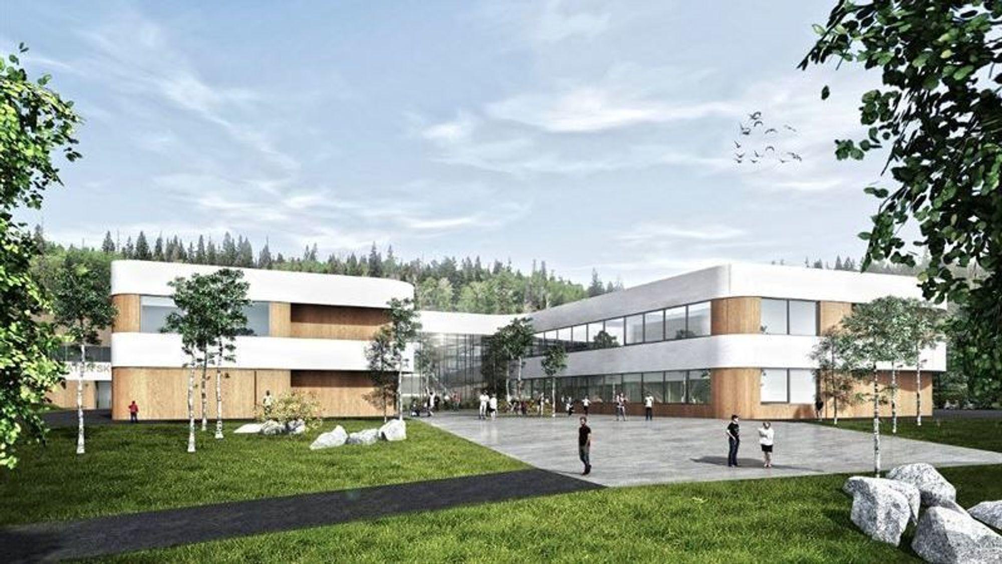 Veidekke skal bygge nye Torvbråten skole i Røyken kommune i Buskerud.