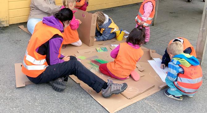 Barna i velkomstgruppen til Espira Ormadalen fikk en myk start i Norge, takket være barnehagen.