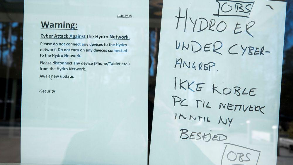 Dataangrep og fortsatte begrensninger ved Alunorte-anlegget i Brasil fører til lavere produksjonsvolum for Hydro. Denne lappen møtte ansatte i Norsk Hydro da de kom på jobb 19. mars.