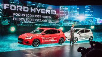 Kommende hybrider, som disse fra Ford, kan tenkes å øke salget av hybrider i Norge.