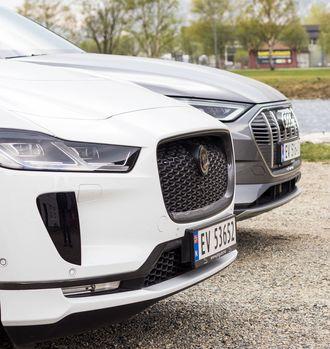 Jaguar I-Pace og Audi E-Tron er to elektriske SUV-er.