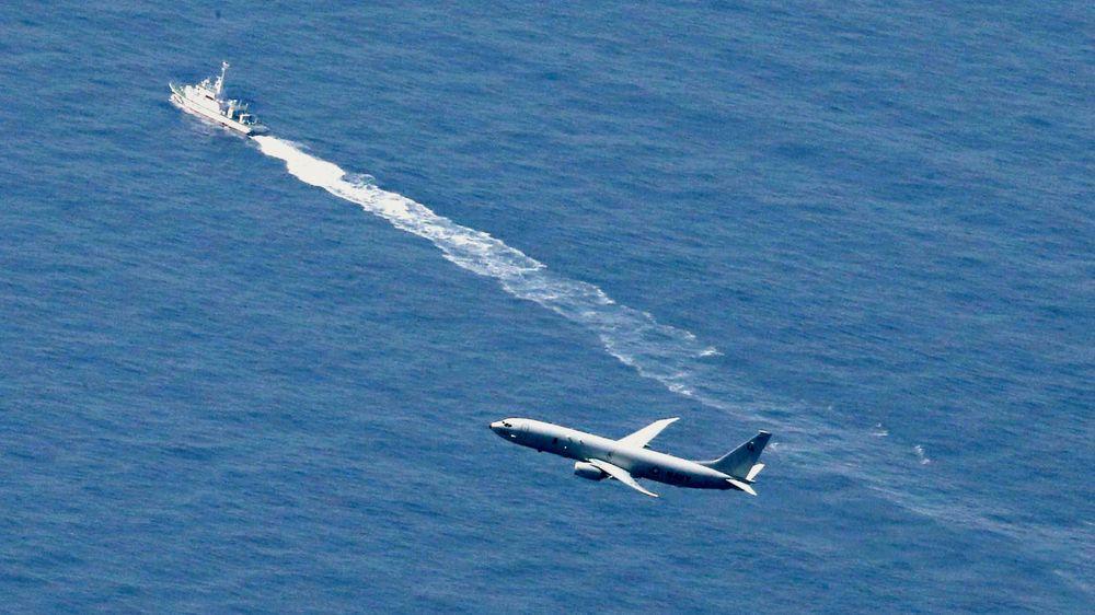 Den japanske kystvakten og et amerikansk militærfly leter etter det styrtede F-35, i området nær Aomori i Nord-Japan, tidligere i år.