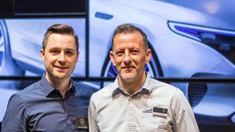 Markus Bauknecht og kollega Dr. Marc Bommer jobber med hhv. ladeløsninger og appløsninger for EQC.