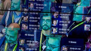 Illustrasjonsbilde tatt fra en live-demonstrasjon av ansiktsgjenkjenningsteknologi Las Vegas under CES-konferansen i år.