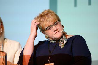 Kulturminister Trine Skei Grande (V) i mediedebatt.