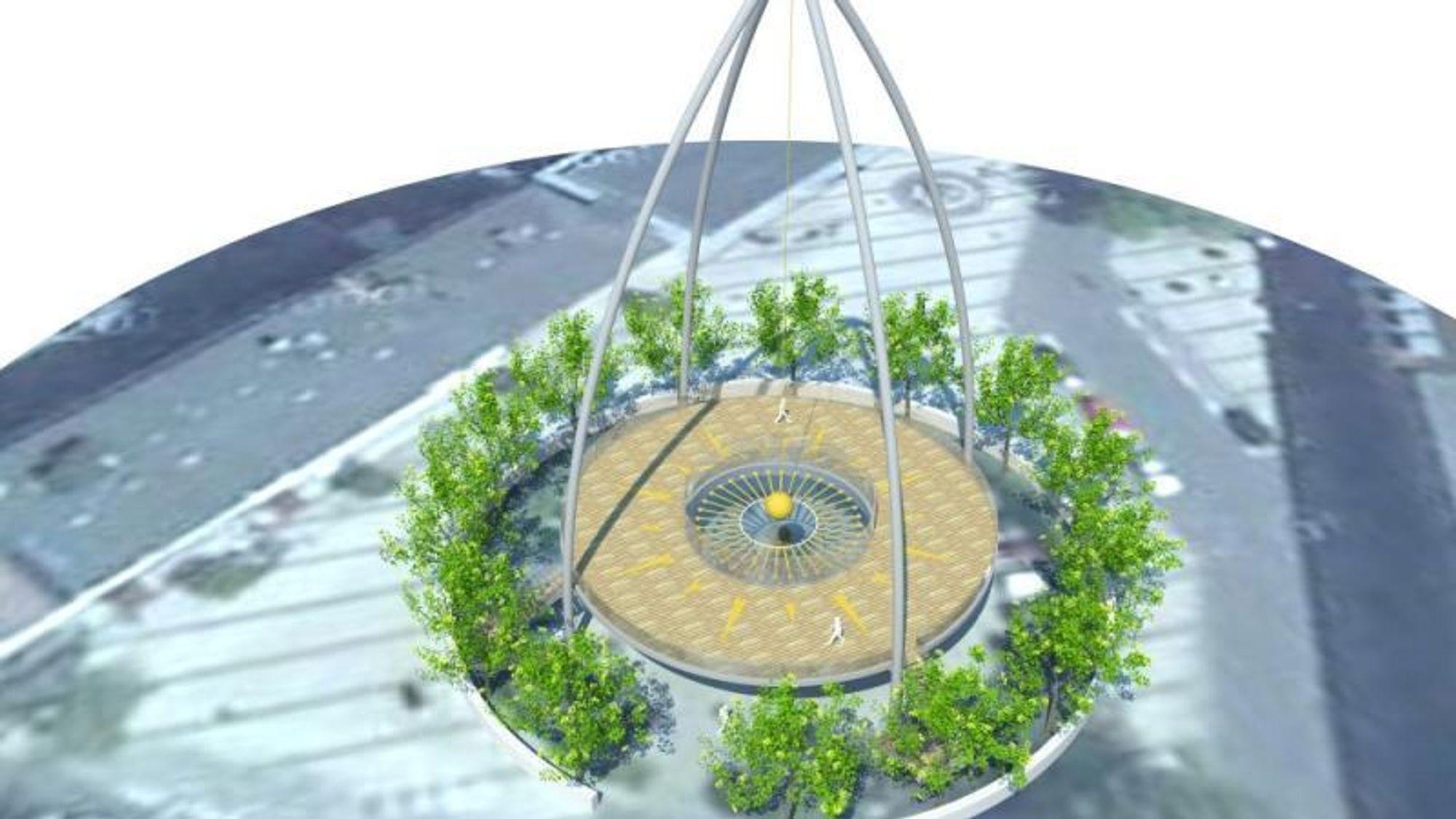 Planene om en 67 meter høy pendel i Svendborg har blitt nedjustert til 40 meter, og nye forsøk lover godt.