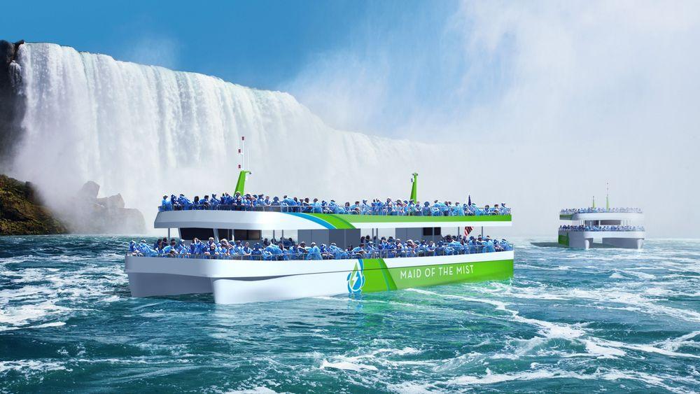 Maid of the Mist opererer to fartøy som frakter turister opp til Niagara Falls i USA. I løpet av året blir de helelektriske med norsk ABB-teknologi.