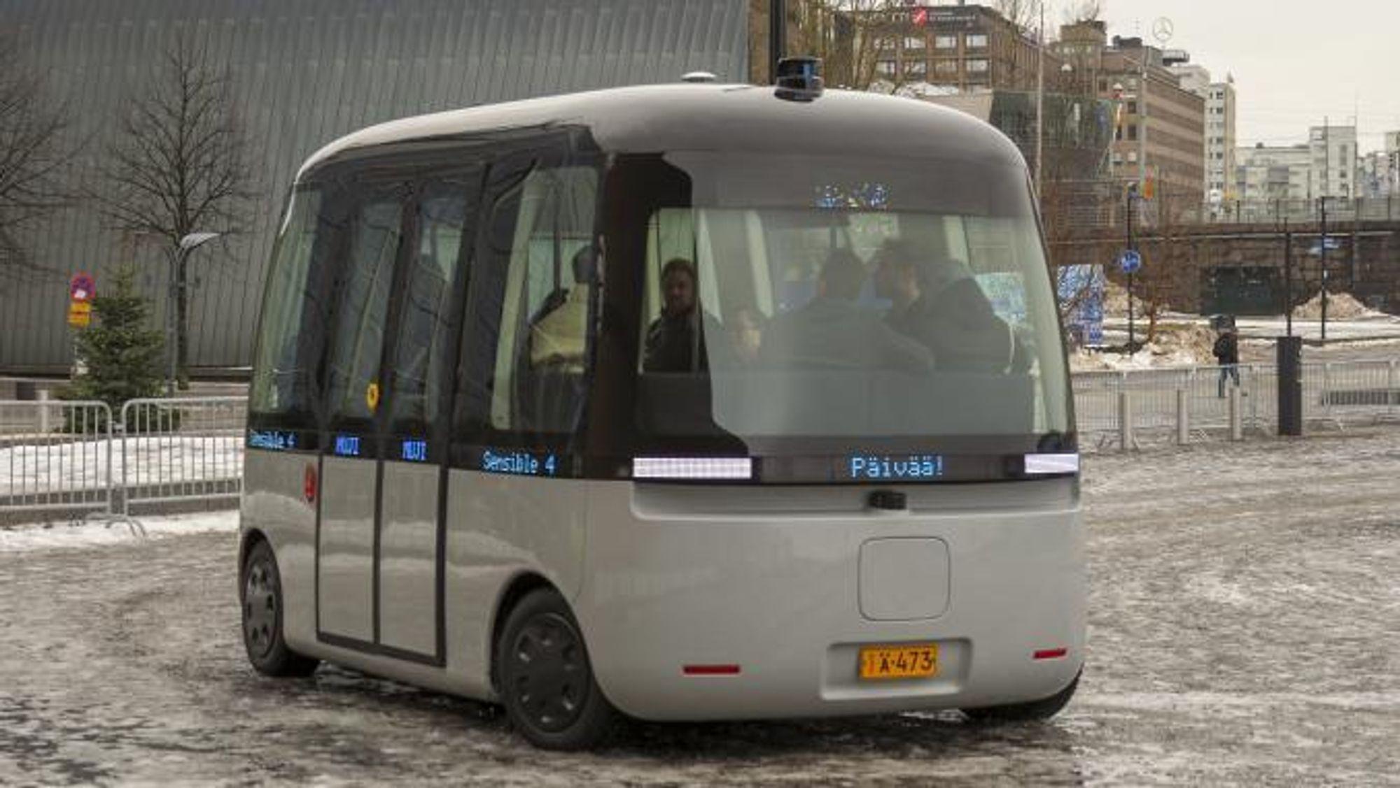 Bussen ble demonstrert i forbindelse med den offisielle premieren i Helsinki i mars.