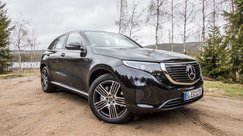 Mercedes-Benz EQC er en elektrisk SUV. Kalkulatoren kan sammenligne en bil som dette med en tilsvarende dieselbil.