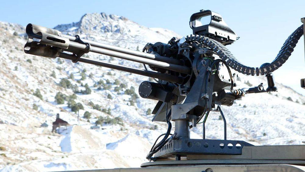 GAU-19/B er et 12,7 mm gatlingvåpen av den typen som Forsvarsmateriell nå vurderer å anskaffe.