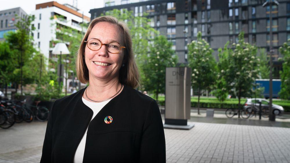 Trine Loe, leder «divisjon for Future & Tech Industries» og skal sørge for at DNB når målet om å finansiere 450 milliarder kroner i fornybar energi og fornybarinfrastruktur.