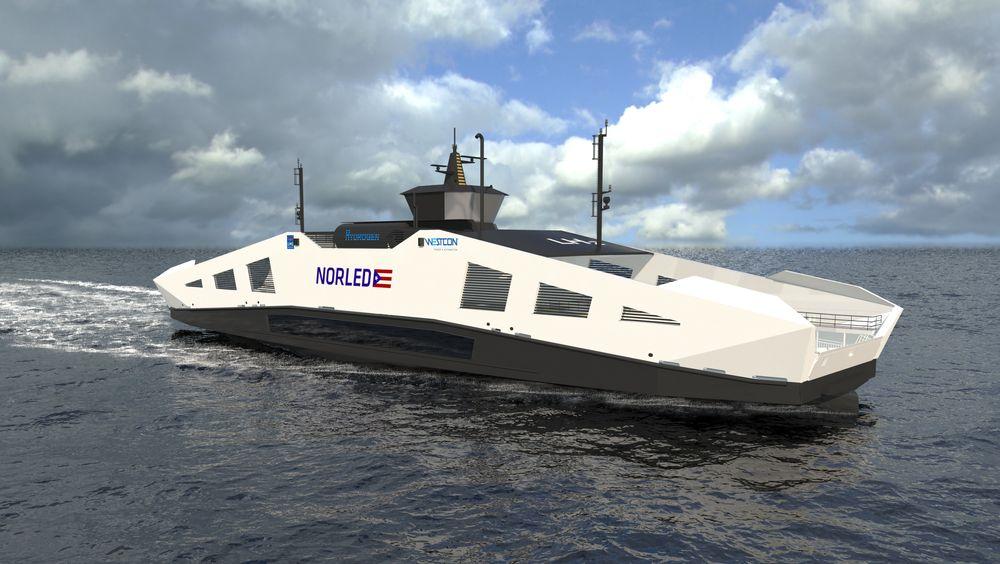 Norleds hydrogenferge er designet av LMG Marin i Bergen.