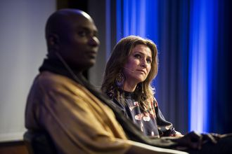 Prinsesse Märtha Louise og sjaman Durek holder foredrag på Clarion hotell i Stavanger.