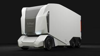 Nå kan én og samme operatør styre ti selvkjørende lastebiler