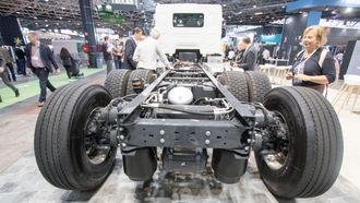 Renault D Wide Z.E er bygget på samme chassis som dieselutgaven.