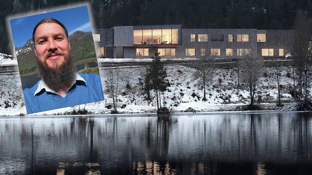 På nye Vestsiden ungdomsskole i Kongsberg har Hallvard Benum fått 15 millioner kroner til å opprette et energilagringssystem for hydrogen.