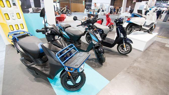 Kymcos scootere ser ganske vanlige ut ellers.