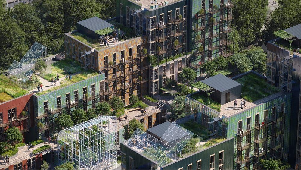 Ifølge Rune Skeie ligger illustrasjonen tett opp mot hvordan det økologiske kvartalet på Stovner kommer til å bli.