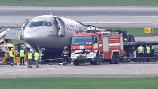 Havarirapport: Hard landing overbelastet vinger og drivstoffrør på Aeroflot-flyet